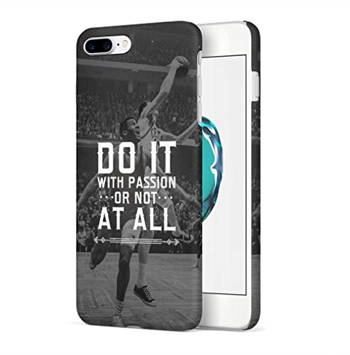Maceste Basketball Do it with Passion Kompatibel mit iPhone 7 Plus/iPhone 8 Plus SnapOn Hard Plastic Phone Protective Fall Handy Hülle Case Cover (Basketball Iphone Fall)