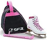 Sfr Skates SFR008, Set per Pattini da Ghiaccio Unisex Bambini, Bianco, 34