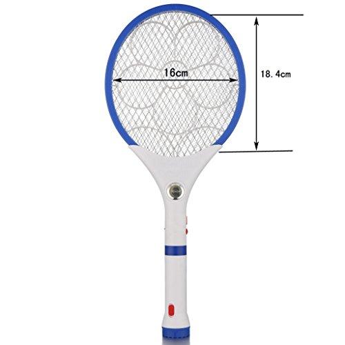 Elektrische Fliegenklatsche mit AKKU, Wiederaufladbar, LED Beleuchtung, Mückenklatsche Insekten Schläger Fliegenklatschen, Mücken Schläger JLA211