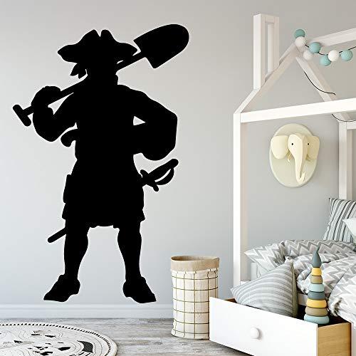 zqyjhkou Cartoon Stil Piraten Wandaufkleber Dekorative Aufkleber Wohnkultur Wandaufkleber Für Kinderzimmer Home Party Decor Tapete XL 58 cm X 91 cm