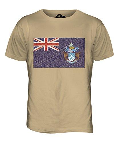 CandyMix Tristan Da Cunha Kritzelte Flagge Herren T Shirt Sand