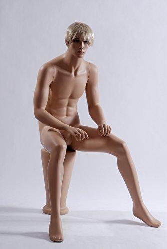 Euroton sitzende Schaufensterpuppe Mannequin Figur männlich MS-12
