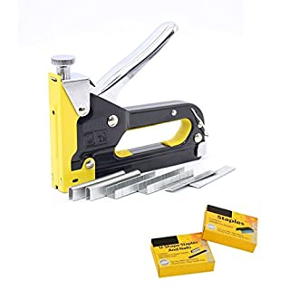 3 in 1 Staple Gun Complete with 600 Free Staples, 3-Way Staple Tacker, Heavy Duty Stapler Ideal for Home, Office and School Use.