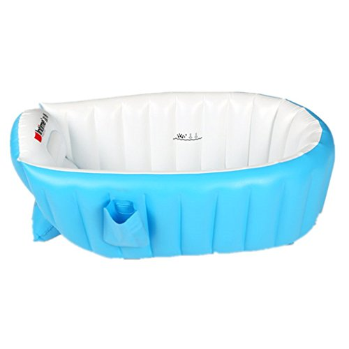 Tiny Tots - Bañera hinchable para bebé, plegable, para viaje, color azul 0-3 años