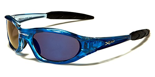X-Loop Xtreme Sunglasses - New 2014 Model - Full UV 400 Protection - Perfect for Ski & Sports (Trans Blue)