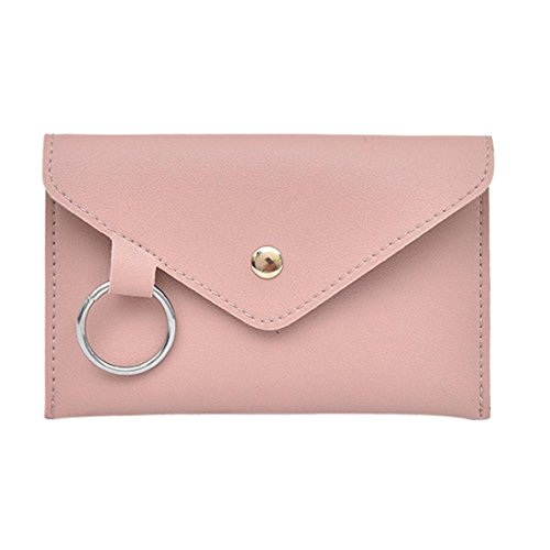 VJGOAL Damen Bauchtasche, Damen Mode Reine Farbe Ring Leder Party Strand Urlaub Messenger Schulter Brust Kleine Tasche (Rosa) -