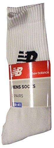 3 PAIA CALZE CALZINI CORTI TENNIS NEW BALANCE NBU01 (bianco, (New Balance Abbigliamento Da Tennis)