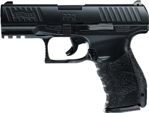 g8ds Set: Softair Walther PPQ HME Vollmetall - 0,5 Joule 6mm Zielscheibe