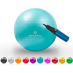 Pelota para gimnasia »Pluto« / Pelota resistente para sentarse y para practicar ejercicio / 65 cm / turquesa