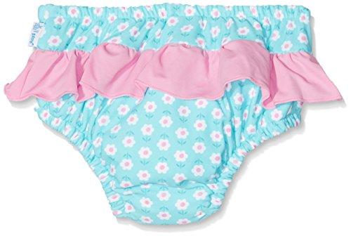 i play. 711053-619-43 Schwimmwindel Rüschen 6-12 Monate, Daisy, aqua - 2