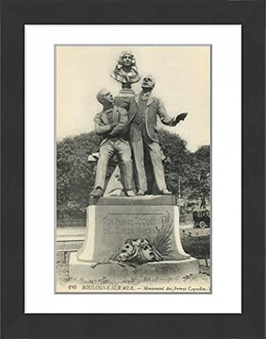 Framed Print of Statue of the Coquelin Brothers - Boulogne-sur-Mer, France