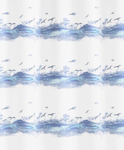 Kleine Wolke 0856733238 Duschvorhang Seaside, 120 x 200 cm, krokusblau