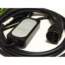 EV Cables PCD020(IEC-SC) Cable de Carga de Coche Eléctrico, 10A/16 A, 5 m, IEC 62196-2 Mennekes Tipo 2 a Enchufe Schuko