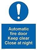 Viking signos mq217-a5p-v `automático Fire puerta