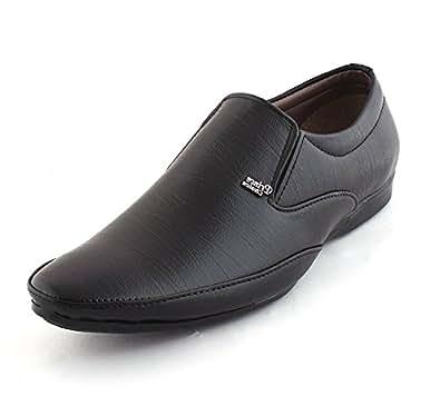 ALESTINO Men's Black Formal Shoes-10 UK/India (44 EU)(ALFF78_10)