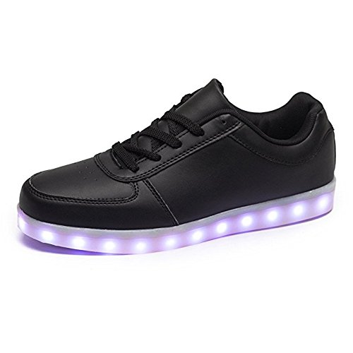Envio-24-Horas-Usay-like-Zapatillas-LED-Con-7-Colores-Luces-Carga-USB-Negro-Hombre-Mujer-Unisex-Talla-35-hasta-46-Envio-Desde-Espaa