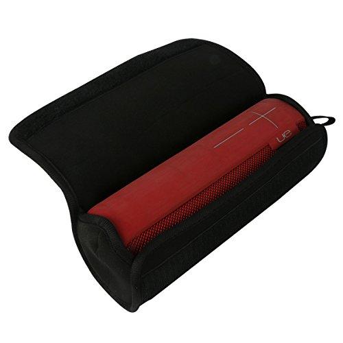 per Logitech UE Megaboom Bluetooth altoparlante mobile morbida bagagli trasporto Viaggi nero sacchetto borsa filtro del manicotto si inserisce il cavo del caricatore da co2CREA