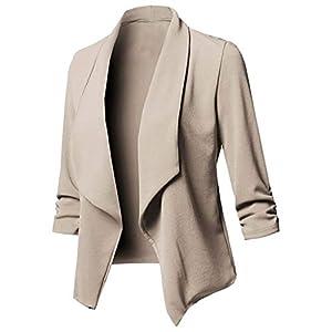 serliy😛Damen Sakko Cardigan Elegant Blazer Leicht DüNn LäNgere Leichte Jacke Fließt Wunderbar Und Ist SchöN Leicht…