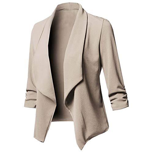 Hniunew Sakkos MäDchen Suit Pumps Elegant Blazer Cardigan Office Jacket Jacke FließT Wunderbar Kurzer Mantel Arbeitskleidung Damenoberteile Dress Coat