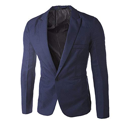 Zolimx Herren Blazer Slim Fit Mode Einfarbig Casual Männer Charme Button Suit Mantel Jacke Tops