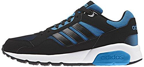 adidas RUN9TIS, Chaussures de Sport Homme, Blanc Noir / bleu (noir essentiel / noir essentiel / bleu solaire)