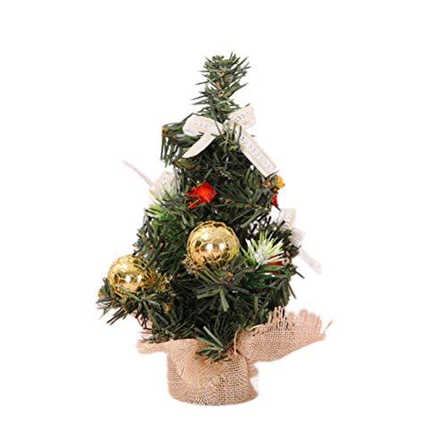 BESTOYARD Mini-Weihnachtsbäume Jahr Schlafzimmer Schreibtisch Dekoration Leinen Baum Home Party Ornaments (Gloden) - Schlafzimmer Kiefer Schreibtisch