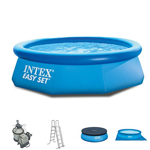 Intex 244x 76cm Easy Pool 281122Set completo incl.Filtro a sabbia, scaletta, a e UPLANE