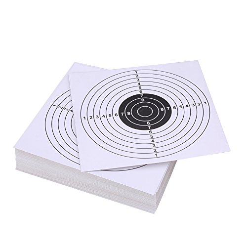 Objetivos para Tiro con Arco, Diana de Papel Tiro Disparos 14cm 100pcs(blanco)