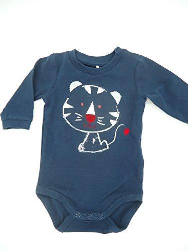 NAME IT ♦ Baby-Jungen Body ♦ Nitgeran Langarmbody MZNB ♦ Organic-Cotton ♦ Marine mit Tiger ♦ Größe 56-74 ()