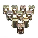 SLB Works 10pcs M8 Barrel Bolts Cross Dowel Slotted Nut for Beds Crib Chairs A1S3 W8D7