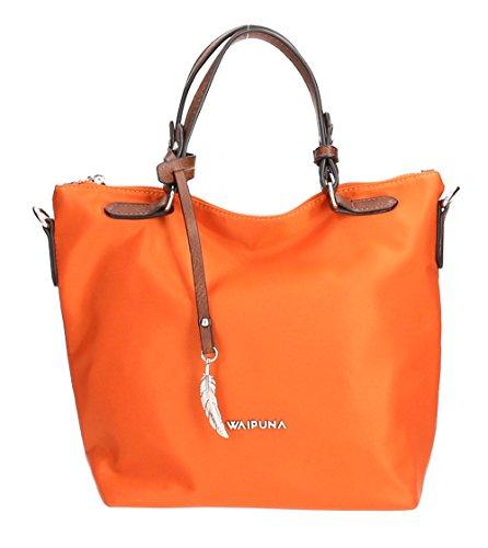 Waipuna, Borsetta da polso donna marrone Brown / Braun arancione / arancione