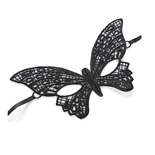 XMDZ Damen Maskerade Maskenball Prom Maske Elegante Spitzeschablone Kostüm-Partei Verrücktes Kleid, Schmetterling