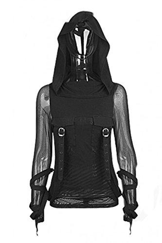 Dark Dreams Emo Gothic Steampunk Punk Top Shirt Hoodie Kapuze Perfect order Top 36 38 40 42, Größe:XXL (Rave Kapuze)