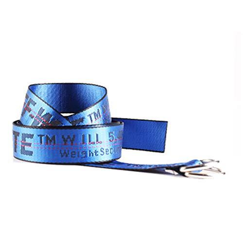 Classico hot OFF cintura cintura semplice moda doppio anello D fibbia ricamo lettere stile industriale white belt