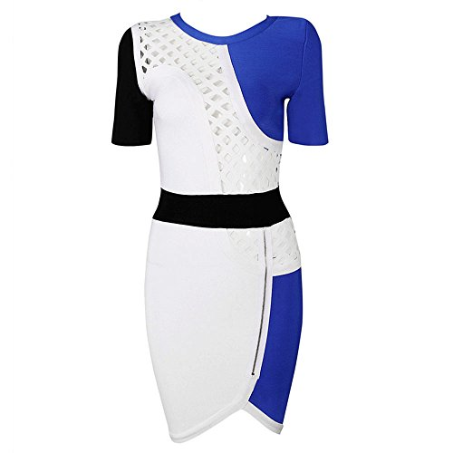HLBandage Women Sexy Half Sleeve Multi Hollowing Bandage Dress Multicoloured