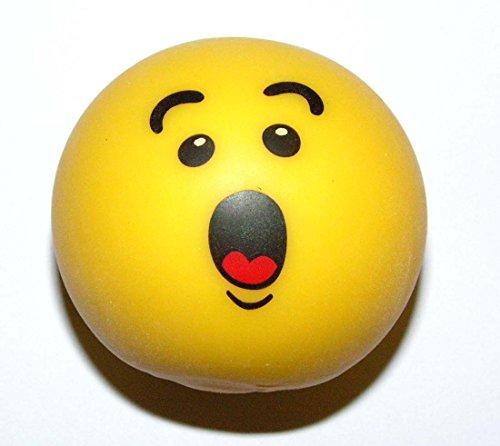 1 x Trendy Smiley Gummi stretch Stress Ball - Antistressball Stressballs Knautschball ca. 6 cm spielen+sammeln Mitbringsel 5350