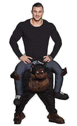 Affe CARRY ME Huckepack trag mich Kostüm Gr.L-XL (Gorilla Huckepack Kostüm)