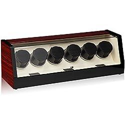 Luxwinder Unisex Zubehör Uhrenbeweger für 6 Automatikuhren powered by Modalo verschiedene Materialien mehrfarbig 8006622