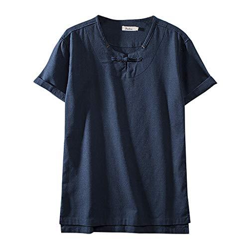 Eaylis Summer Herren KurzäRmelige Freizeitkleidung Aus Baumwolle Und Leinen Im Chinesischen Stil
