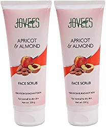 Apricot and almond face scrub by Jovees 220 ml (pack of 2)