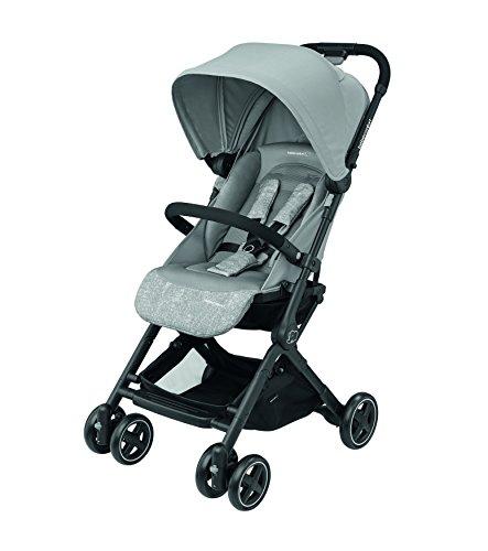 Bébé Confort LARA 'Nomad Grey' - Cochecito Ultra compacto, del nacimiento hasta los 3,5 años, 0-15 Kg, color gris