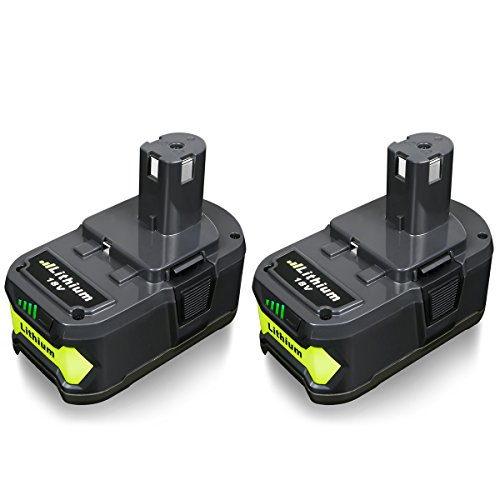 FLAGPOWER P108 18V Wekzeug Akku für Ryobi ONE+ P108 P107 P122 P104 P105 P102 P103 Li-ion Batterie Ersatzakku (4.0Ah 2 Stück) (P105 Ryobi)