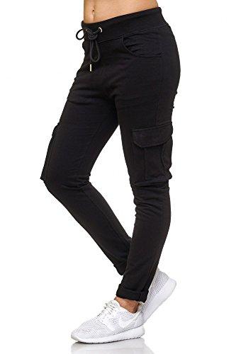 BELLIS® Cargo Damen Hose Jogginghose Sporthose Freizeithose /XS-XXL/ G-699009 Black