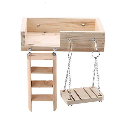 Animale domestico di legno piattaforma piccoli animali set altalena e scaletta kit di arrampicata accessori per la gabbia per topo cincilla ratto gerbil nano criceto