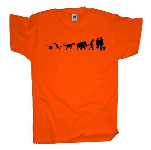 Ma2ca - 500 Mio Years - Hund Gassi gehen T-Shirt Orange