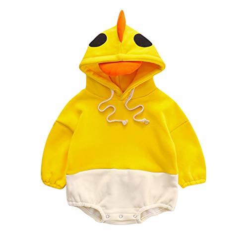Livoral Babyoverall, Patchworkoverall im Dinosaurier-Stil für Jungen und Mädchen(#3 Gelb,12-18 Monate)