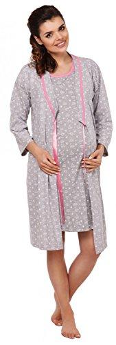 Zeta Ville-Maternité Peignor/Chemise nuit/Pyjamas MÉLANGEZ&COMBINEZ - femme 980c Robe de chambre