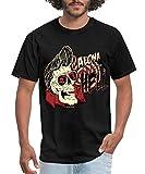Photo de Easy Go Shopping Pratique décontracté Aloha from Hell Rockabilly Zombie Tee Shirt Homme - Nouveauté Graphique Cool Drôle T-Shirts T-Shirts par Easy Go Shopping