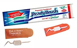 Ready Brush Prepasted Disposable Toothbrush 10 count And Pick A Dent 3 Count