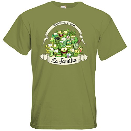 getshirts - Gronkh Official Merchandising - T-Shirt - LaFamilia Green Moss